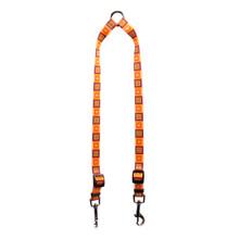 Orange Blocks Coupler Dog Leash