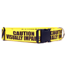 2 Inch - Caution Visually Impaired Dog Collar