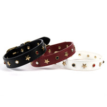 American Stars Leather Dog Collar