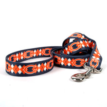 Chicago Bears Argyle Dog Leash