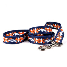 Denver Broncos Argyle Dog Leash