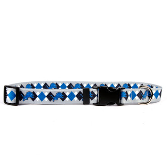 Detroit Lions Argyle Dog Collar