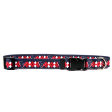 Houston Texans Argyle Dog Collar