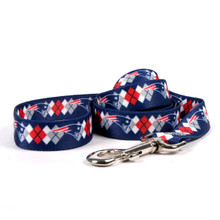 New England Patriots Argyle Dog Leash