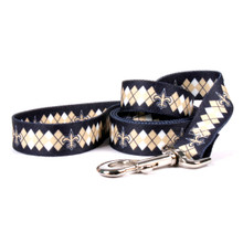New Orleans Saints Argyle Dog Leash