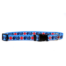 Tennessee Titans Argyle Dog Collar