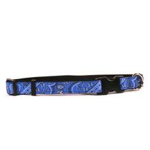 Bandana Blue on Black Grosgrain Ribbon Collar