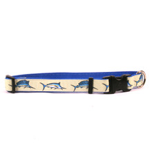 Bill Fish on Royal Blue Grosgrain Ribbon Collar