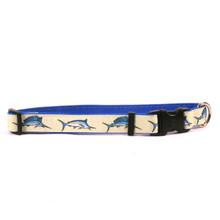 Bill Fish on Royal Blue Grosgrain Ribbon Collar