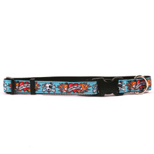 I Luv My Dog Blue on Black Grosgrain Ribbon Collar