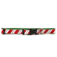 Peppermint Stick on Kelly Green Grosgrain Ribbon Collar