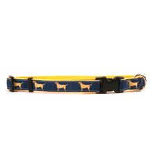 Yellow Lab on Yellow Grosgrain Ribbon Collar