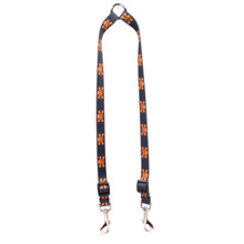 Orange and Black Skulls Coupler Dog Leash