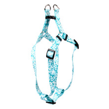 Teal Lace Flowers Step-In Dog Harness