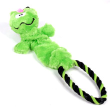 Rope Ring Frog Elastic Dog Toy