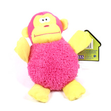 Big Belly Plush Monkey Squeaker Dog Toy