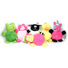 Big Belly 6 Pack Plush Squeaker Dog Toys