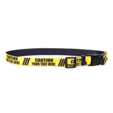 Personalized Caution Dog Collar