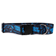 Carolina Panthers 2 Inch Wide Dog Collar