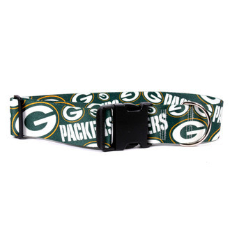 Green Bay Packers 2 Inch Wide Dog Collar