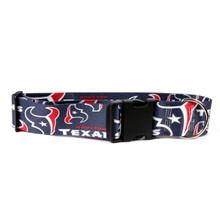 Houston Texans 2 Inch Wide Dog Collar