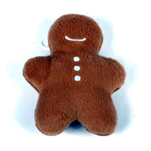 Gingerbread Man Plush Squeaker Dog Toy