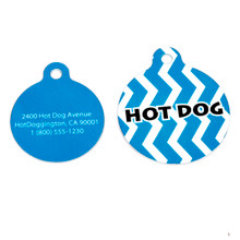 Blueberry Chevron Stripe HD Pet ID Tag