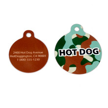 Green Camo HD Pet ID Tag
