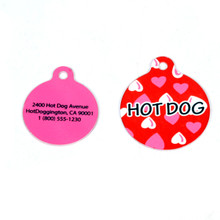 Red Hearts HD Pet ID Tag