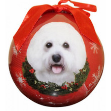 Bichon Frise Glossy Round Christmas Ornament **CLEARANCE**