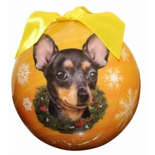 Chihuahua Black Glossy Round Christmas Ornament **CLEARANCE**