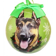German Shepherd Glossy Round Christmas Ornament **CLEARANCE**