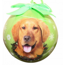 Golden Retriever Glossy Round Christmas Ornament **CLEARANCE**