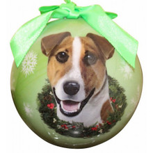 Jack Russel Glossy Round Christmas Ornament **CLEARANCE**