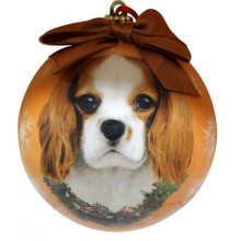 King Charles Cavalier Glossy Round Christmas Ornament **CLEARANCE**