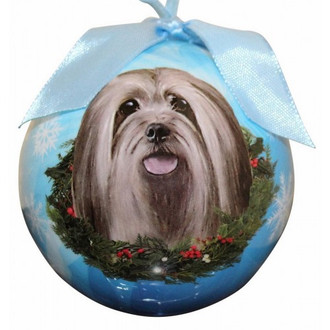 Llasa Apso Glossy Round Christmas Ornament **CLEARANCE**