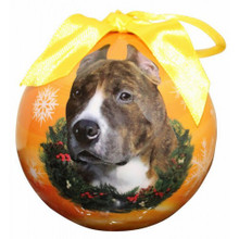 Pit Bull Glossy Round Christmas Ornament **CLEARANCE**