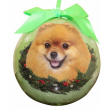 Pomeranian Glossy Round Christmas Ornament **CLEARANCE**