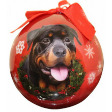 Rottweiler Glossy Round Christmas Ornament **CLEARANCE**