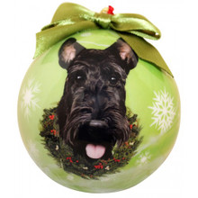 Scottie Glossy Round Christmas Ornament **CLEARANCE**