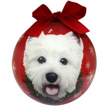 Westie Glossy Round Christmas Ornament **CLEARANCE**