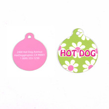 Green Daisy HD Pet ID Tag