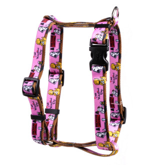"I Hate Valentines Day Roman Style ""H"" Dog Harness"