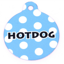 Light Blue Polka Dot HD Pet ID Tag