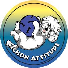 Bichon Attitude Magnet