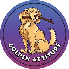 Golden Retriever Attitude Magnet