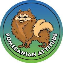 Pomeranian Attitude Magnet