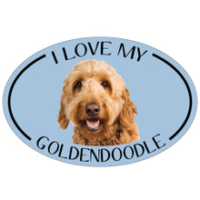I Love My Goldendoodle Colorful Oval Magnet