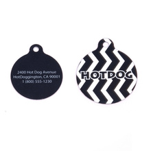 Licorice Chevron Stripe HD Pet ID Tag