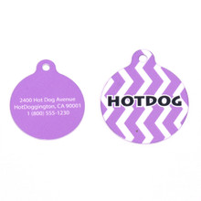 Grape Chevron Stripe HD Pet ID Tag